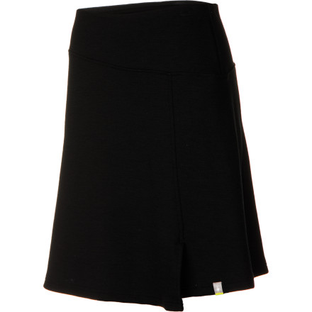 Get a move on in the SmartWool Women's Ferndale Skirt. This stretchy, comfy skirt is the fall and winter equivalent of the pull-on cotton/spandex skirts that you live in during the summer. Along with the comfort, you get a sleek, classic looks that goes with just about anything and blends right in at the office or at a fancy restaurant. - $69.97