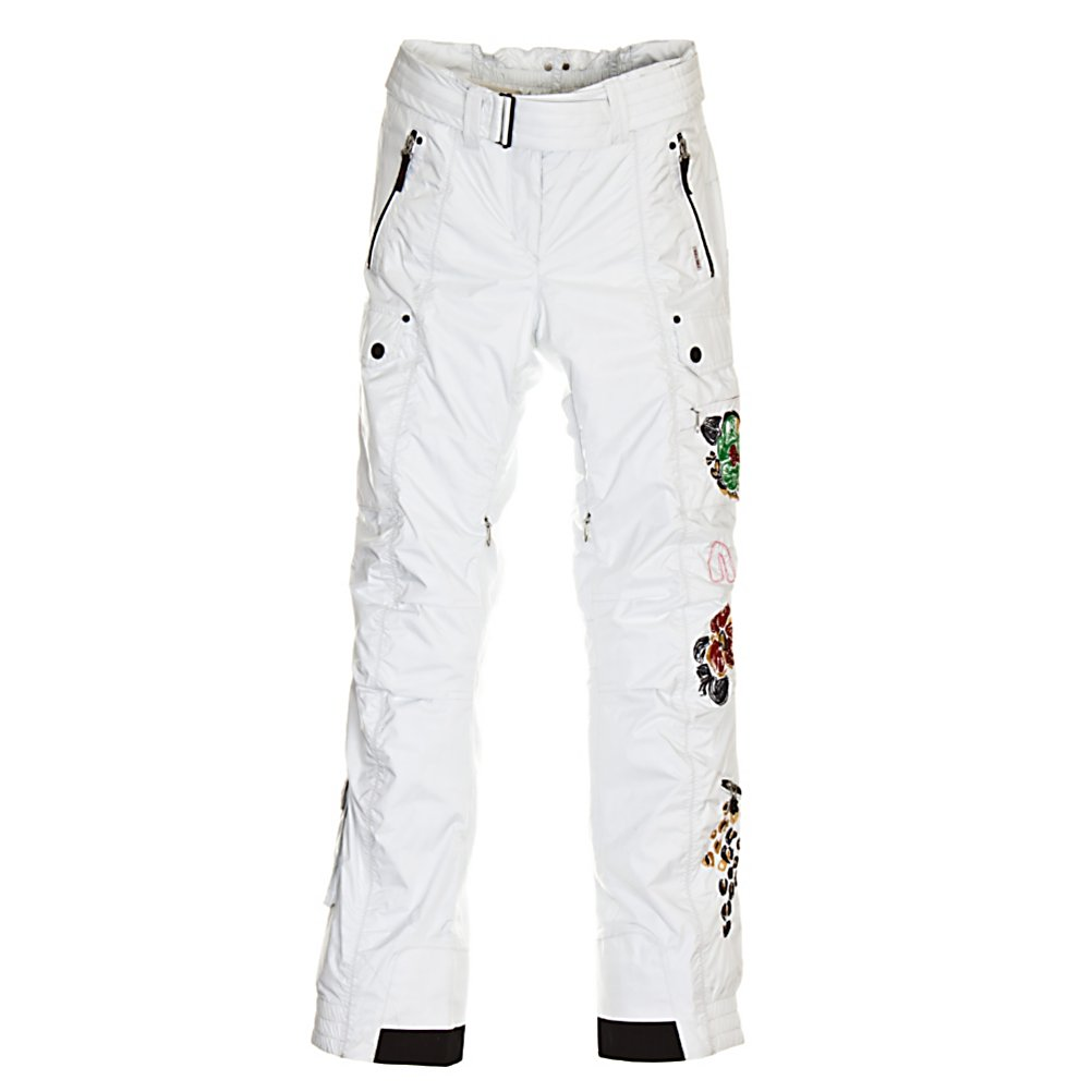 Ski Bogner Fire + Ice Raffaela Womens Ski Pants - Bogner Fire And Ice stands for functional performance without losing the appearance of exclusive fashion. The collection offers sporting luxury with the pleasure of bright, high-energy colors. Layered look and lightness are key words for combinations that catch the eye - both for sports and the modern mix of street wear. This is based on the highest possible performance in fabrics and complex workmanship. Close-fitting and ergonomic cuts characterize the looks and these can be merged together in new ways to make up the fashion kaleidoscope. Fire And Ice Raffalea Ski Bottoms demonstrate the creativity and practical versatility of our sports collection. Relaxed cargo style with a highly fashionable new silhouette and cool embroidery. The innovative Ripstop fabric guarantees excellent wear characteristics, waterproof, super light, and breathable make these superb ski pants. Features: Ergonomic knee shape. Softshell: No, Taped Seams: Fully Taped, Waterproof Rating: 10,000mm, Breathability Rating: 10,000g, Thigh Zip Venting: Yes, Suspenders: None, Articulated Knee: Yes, Low Rise: No, Warranty: Limited Lifetime, Waterproof: Moderately Waterproof (5000mm-19,999mm), Breathability: High Breathability (9000g-15,000g), Waist: Beltloops, Pockets: 3-4, Model Year: 2012, Product ID: 240296, Lining Material: 100% Polyester, Cut: Regular, Type: Insulated, Use: Ski, Race: No, Insulation Weight: N/A, Exterior Material: Rip Stop - $199.92