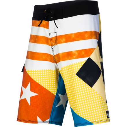 Surf In a world full of greenwashed marketing claims, Quiksilver is taking steps toward sustainability with the Cypher Echo Board Short. Fully traceable recycled PET makes up over 90% of the four-way stretch fabric,  giving you peace of mind without skimping on the comfort and mobility you need to slash waves all day. - $49.56