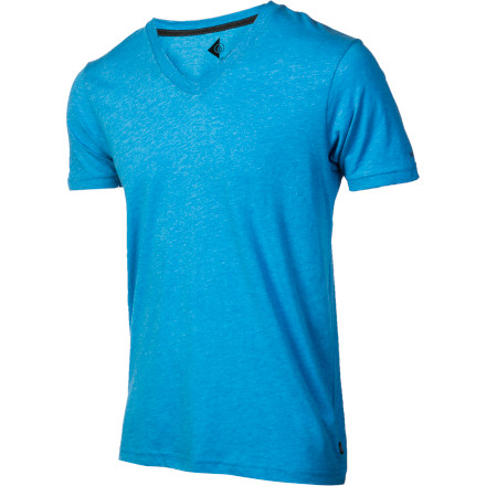 Surf Check out the slim-fit Volcom Men's Solid Heather Too V-Neck Short-Sleeve T-Shirt if you're looking to take the plunge into the V-neck world. - $24.95