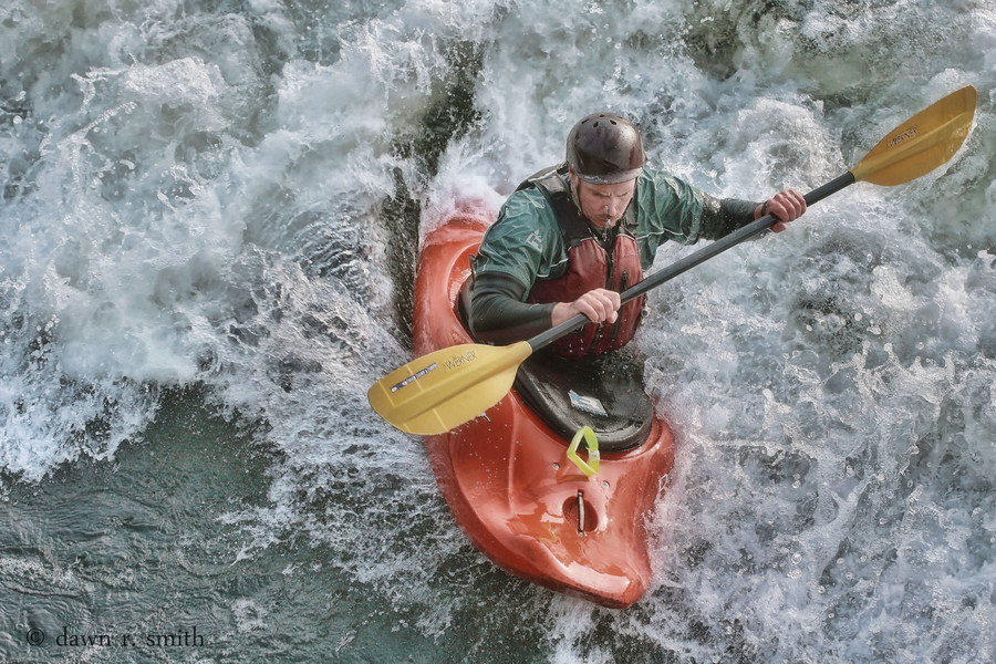 Kayak and Canoe high, rough waters add to the adventure for paddlers on the Ohiopyle