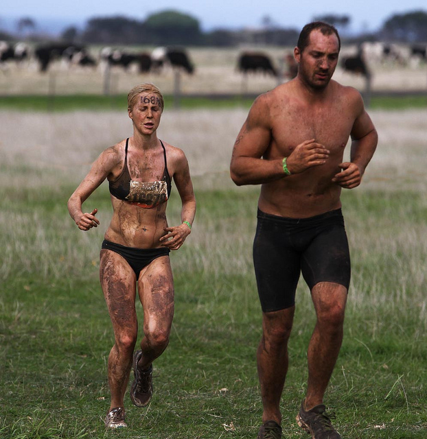 Fitness Tough Mudder event at Phillip Island