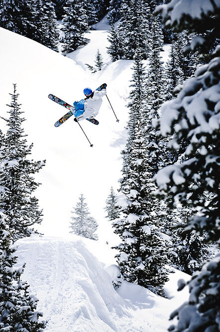 Ski Tim Durtschi air in Idaho