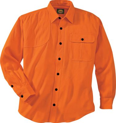 Hunting Have you ever been on an upland hunt and quickly found your shirt wasn't quite working for you? Either you were too hot or cold, or maybe you just felt restricted. These reasons and more are why we designed this upland shirt. Not only does it keep you noticeable to other hunters, but it has features that make it so comfortable, you won't want to leave the field. Crafted of long-lasting, durable 100% blaze acrylic, it sheds off burs and other grasses that usually catch on clothing. The diamond-quilted shooting patch on the right shoulder pads recoil. The articulated elbow makes it easy to swing into the shooting motion. A button-close flap pocket on the right side of the chest is perfect for shells, transmitters, whistles and other small items. Imported.Sizes: M-3XLColor: Blaze Orange. Type: Long-Sleeve Shirts. Size: X-Large. Camo Pattern: Blaze Orange. Size Xl. Color Blaze Orange. - $19.88