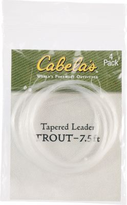 Flyfishing Built with a longer stiff butt section needed to turn over heavy numph rigs or large flies. Per 4. Length: 10 ft. Sizes: 10, 12, 15-lb. test. - $6.88