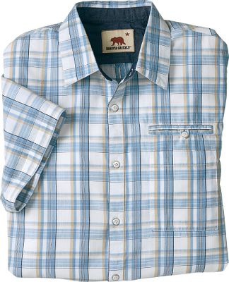 Grizzly shirts make it easy to put on authentic summer style. This shirt is made of 100% recycled cotton gingham, a fabric that breaths easy, wears well and is easy to clean. Offering a stacked double pocket and genuine chambray accents. Imported. Sizes:M-2XL. Colors: Meadow, Stream, Tang, Lime. - $12.88