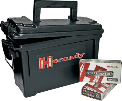 Enjoy uncompromising accuracy and performance with this economical ammo from Hornady. Loaded with Hornady 52-grain. Match rifle bullets at Hornadys U.S. factory, each cartridge and load is matched to an optimal propellant in order to deliver exceptional accuracy. By using polymer-coated steel cases and noncorrosive Berdan primers, this ammo delivers the performance youve come to expect from Hornady at a price much lower than comparable match ammunition with brass cases. Now available in a 300 round value pack with Hornady dry box. - $154.99