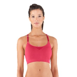 Fitness With soft, seamless construction, removable quick-dry cups, easy adjustable straps, and awesome power mesh back panel, this lightweight bra packs some serious performance. It's lightweight and incredibly breathable for long-lasting comfort. And its feminine scoop neck is perfect for Yoga, Pilates, and other low-impact workouts-you can even layer it under your favorite T-shirt for a seamless fit on your days off. Soft, seamless construction feels ultra smooth and comfortableUA Compression sports bras deliver superior support and comfort during intense workoutsSuperior Moisture Transport System wicks sweat and regulates core tempPower rib support on inner layer provides extra stabilityAdjustable, elastic straps feature a custom UA slider trim for the perfect, comfort fitSkinny racer back with power mesh panel unlocks mobility and dumps heat to keep you coolBuilt for Low-Impact activity and all-day comfortNylon/SpandexImported - $29.99