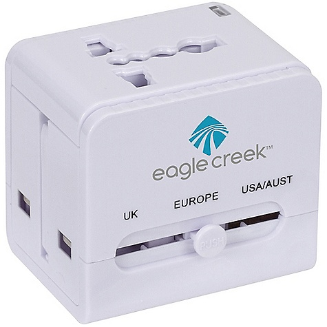 Entertainment Eagle Creek USB World Travel Adapter DECENT FEATURES of the Eagle Creek USB World Travel Adapter Adapter includes four different plug configurations that work in over 150 countries Built-in USB Charger The SPECS PC - $29.95