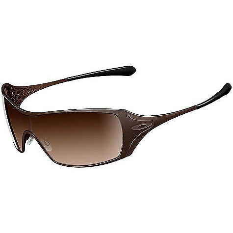 Entertainment Free Shipping. Oakley Women's Dart Sunglasses Specifications for the women's Dart Sunglasses by Oakley: Eye: 131 Bridge: 0 B: 42 Features: Fashion of uniquely feminine frame geometry Accents of sculpturally detailed hinge webbing and metal icons Expanded field of view via extended lens coverage Maximized clarity at all angles of vision with patented Oakley XYZ Optics Optimized peripheral view and side coverage of Polaric Ellipsoid lens geometry Comfort and durability of ultra-lightweight C-5 frame material UV protection of Plutonite lens material that filters out 100% of UVA / UVB Optical precision and performance that exceeds all ANSI Z80.3 standards Impact resistance that meets all ANSI Z80.3 standards Varied field of light transmission (top to bottom) via optional gradient lens shading Convenience and styling of exclusive women's eyewear case (included) - $170.00