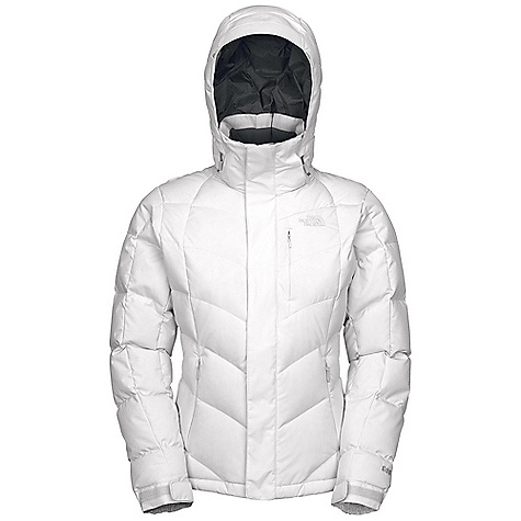 On Sale. Free Shipping. The North Face Women's Amore Jacket DECENT FEATURES of The North Face Women's Amore Jacket Water resistant, breathable Adjustable EZD-tach hood Chest zip pocket Handwarmer zip pockets Internal media security pocket Internal goggle pocket Snap-down adjustable powder skirt with elastic zipper Pant-a-locks Adjustable hem system Hook-and-loop adjustable cuffs Buddy lift clip Goggle cloth inside right hand pocket The SPECS Shell fabric: HyVent 2L jacquard, bluesign approved Lining fabric: Floral embossed taffeta Insulation fabric: 600 fill down This product can only be shipped within the United States. Please don't hate us. - $179.99