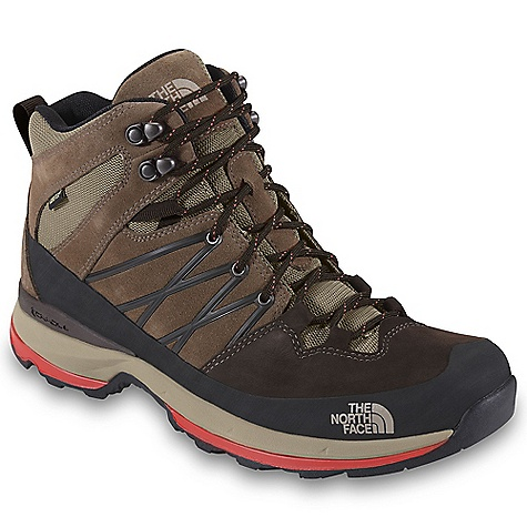 Camp and Hike Free Shipping. The North Face Men's Wreck Mid GTX Boot DECENT FEATURES of The North Face Men's Wreck Mid GTX Boot Upper: Waterproof nubuck and split suede upper Rubber toe cap and lateral mudguard for durability and protection Gore-Tex Extended Comfort Range waterproof, breathable membrane Mesh collar and tongue Welded TPU overlays on quarters for structure Northotic Pro 2.0 footbed Bottom: Dual-density, compression-molded EVA midsole with Cradle technology PU bottom-layer midsole provides durability, rebound and cushioning ESS forefoot protection pad Exclusive Vibram rubber outsole The SPECS Last: TNF-001N Approx Weight: 1/2 pair: 1 lb 3 oz / 502 g, pair: 2 lbs 6 oz / 1004 g This product can only be shipped within the United States. Please don't hate us. - $149.95