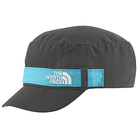 The North Face Youth Military Hat DECENT FEATURES of The North Face Youth Military Hat QuickDry Ultraviolet Protection Factor (UPF) 50 Velcro adjuster The SPECS Shell: 100% polyester Lining: 100% polyester sweatband This product can only be shipped within the United States. Please don't hate us. - $25.00