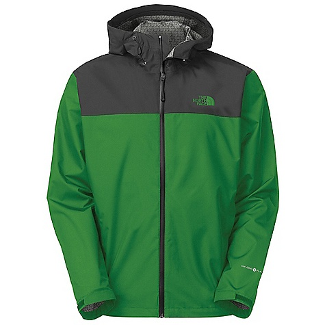 Free Shipping. The North Face Men's RDT Rain Jacket DECENT FEATURES of The North Face Men's RDT Rain Jacket Waterproof, extremely breathable and seam sealed, aided by a FlashDry print component Polyurethane (PU) center front zip Two secure-zip hand pockets Pit-zips Stowable in hand pocket Bonded cuff tabs Hem cinch-cord The SPECS Average Weight: 14 oz / 400 g Center Back Length: 28in. 50D 119 g/m2 (4.2 oz/yd2) HyVent 2.5L-100% polyester ripstop with FlashDry This product can only be shipped within the United States. Please don't hate us. - $148.95