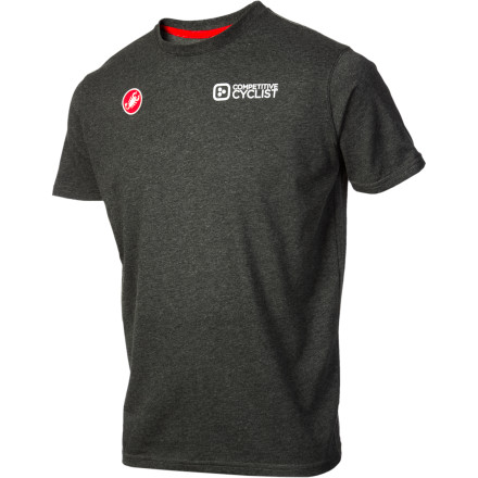 Fitness We realize that, despite your best intentions, your body isn't always in the saddle. That's why we teamed up with Castelli to make the Competitive Cyclist Race Day T-Shirt. Now, you can represent while you're warming up, jumping up on the podium, or while you're watching Grand Tours at the pub. Is it comfortable' Yes. Stylish' Sure. A t-shirt' You bet. We weren't trying to reinvent the proverbial wheel, here, but we have to say that Castelli's cotton/polyester blend does complement the form better than your standard cotton construction. You'll also find that it's a little more stretchy, and it's also a little more cooling than your typical t-shirt. Either way, the message outweighs the means -- you ride a bike, and that's why there's no hair on your legs. The - $24.95