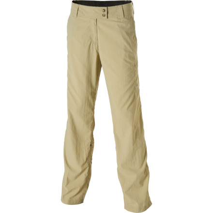 Camp and Hike Water-resistant, stain-resistant, and wrinkle-resistant, the Ex Officio Women's Nomad Roll-Up Pant might be the only pant you take on your next trip into the wilderness or on the road. The lightweight fabric dries quickly and helps block harmful UV rays on your hikes and climbs. - $69.95