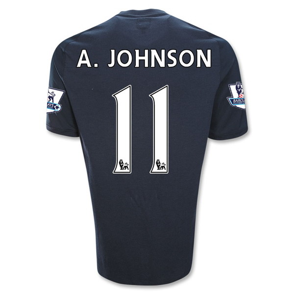 Entertainment A. JOHNSON Manchester City Third Soccer Jersey 2011/2012