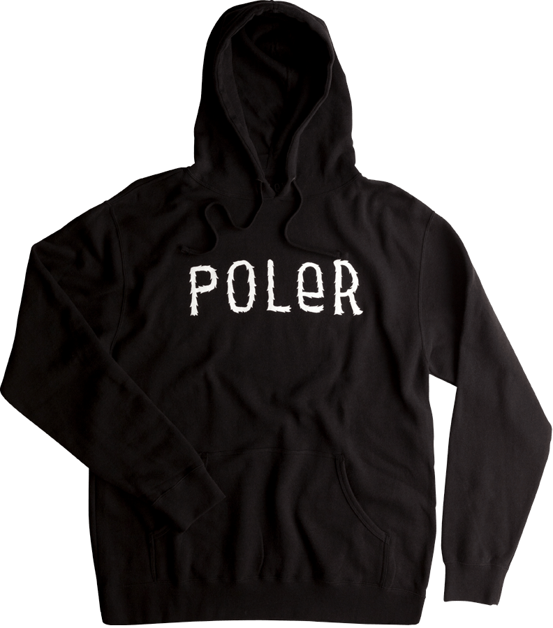 Snowboard Poler Furry Font Pullover Hoodie in Black - $49.95