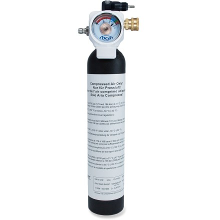 Snowboard This Backcountry Float compressed air cylinder works with Float Avalanche Airbag packs to rapidly inflate the airbag and help keep you at or near the snow's surface during an avalanche. - $175.00