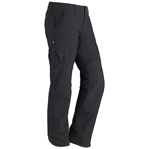 Free Shipping. Marmot Women's Highland Pant DECENT FEATURES of the Marmot Women's Highland Pant Blue Sign Approved Fabric Mid-Weight Stretch Performance Double Weave Woven Fabric Ultraviolet Protection Factor (UPF) 50 Abrasion Resistant Nylon Fabric Nylon/Polyester Twill Stretch Panels for Added Durability Quick-Drying and Wicking Durable Water-Resistant Finish (DWR) Stretch for Increased Mobility Adjustable Hem Closure Zipper Secure Cargo Pockets and Back Pocket Reinforced Hem DriClime Interior Waistband for Added Comfort Internal Drawcord for Adjustablility The SPECS Weight: 15.5 oz / 439.4 g Material: Softshell Double Weave 95% Nylon, 5% Elastane 5.6 oz/yd Softshell Double Weave 50% Nylon, 43% Polyester, 7% Elastane 8.1 oz/yd Fit: Regular - $109.95