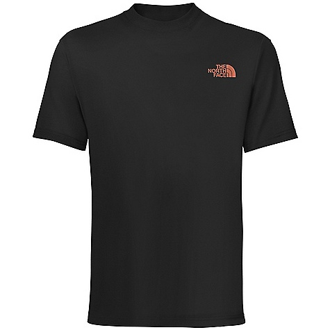 The North Face Men's S-S Exposer Tee DECENT FEATURES of The North Face Men's Short Sleeve Exposer Tee Comfortable, lightweight, easy-care fabric Screen-printed graphic at center back 1x1 rib at collar The SPECS Average Weight: 7.2 oz / 204 g Center Back Length: 28.5in. 180 g/m2 94% cotton, 6% organic cotton jersey This product can only be shipped within the United States. Please don't hate us. - $25.00
