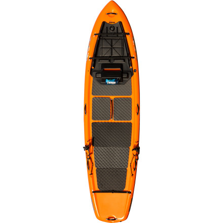 Kayak and Canoe Land a few big fish from the deck of the Jackson Kayak SUPerFISHal Stand-Up Paddleboard. This paddleboard was designed specifically for fishing, with cam straps to hold extra gear, screw-in deck mounts for accessories like rod holders, and removable fins that keep you tracking straight and true for efficient paddling. You'll be able to quickly and quietly creep into shallow areas of lakes, pick your way down slow-moving rivers, and take the gear you need with yousolely under the power of your paddle. - $969.00