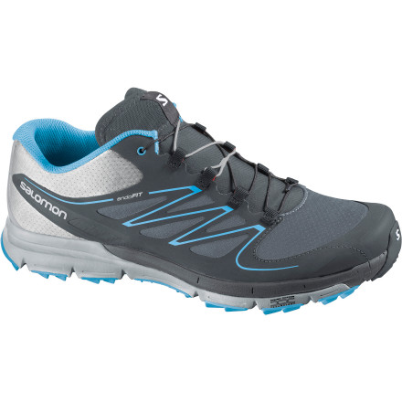 Fitness Over the years Salmon's trail running shoes have defined many of the technologies and trends that have become wildly popular among dirt-loving runners. The Women's Sense Mantra Trail Running Shoe is the latest example of this unending dedication to innovation, with features that make it just as comfortable on the road to the trail as it is on the trail. This lightweight trainer features neutral cushioning and built-in forefoot protection takes the bite out of rocks, roots, and debris. Midfoot strikers will fall in love with the low 6mm heel drop, and high mileage runners will appreciate the lightweight materials. Take your training runs beyond the street and you'll be all the more thankful when race day finally rolls into town. - $119.95