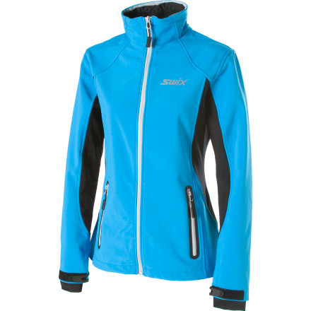 Ski Move like you mean it despite the deep freeze when you ski or hike with the Swix Women's Corvara Softshell Jacket. For your heart-pounding exercising in the bitter cold, this softshell jacket features a brushed lining and breathable stretch panels to keep your core temp just right and your ski strides in line. - $77.97