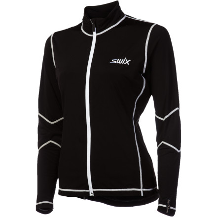 Worn alone when it's mild, or as a midlayer when temps plummet, the Swix Women's Cirrus Tech Jacket is as versatile as it is warm and fine-fitting. Super-stretchy, fast-drying polyester and spandex allow loads of mobility for full-day, full-on action. - $45.47