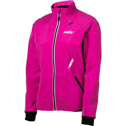 Fitness Life is all about preparation, hence the warm-up Swix Women's Bergan Jacket. Get the blood flowing and the legs kicking and gliding with this light, weather-resistant, breathable softshell with preformed sleeves. Its stretchy fabric and brushed stretch panels won't get in the way. And a cool and convenient water-bottle pocket in the back prevents you from drying up like a leaf. - $84.47