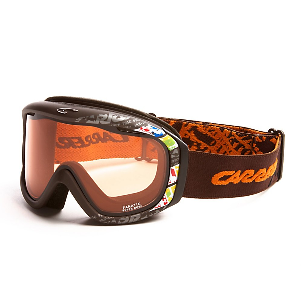 Ski Carrera Fanatic Goggles - Keep your vision and face protected while out on the slopes with the Carrera Fanatic Goggles. These goggles are helmet compatible which will give you a secure and comfortable fit. An anti-fog and anti-scratch lens treatment will keep your field of vision clear in all types of conditions. The Passive ventilation system will also help keep your vision clear and highly visible in all types of weather conditions. Soft Foam and a Seal-Ring System ensure a perfect fit to your face and allow the Fanatic Goggles to fit perfectly into your helmet. An outrigger positioning system on the Carrera Fanatic goggles ensure these goggles will fit comfortably against your face. . Race: No, Category: Adult, OTG: No, Comes w/ Case: No, Fog Fan: No, Frame Size: Medium, Spherical Lens: Yes, Polarized: No, Photochromatic: No, Rubberized Strap: No, Helmet Compatible: Yes, Frame Size: Fits Most Faces, Lens Shape: Flat, Lens Coating: n/a, Has Fan: No, Model Year: 2012, Product ID: 296305, Headphones Included: No - $39.99