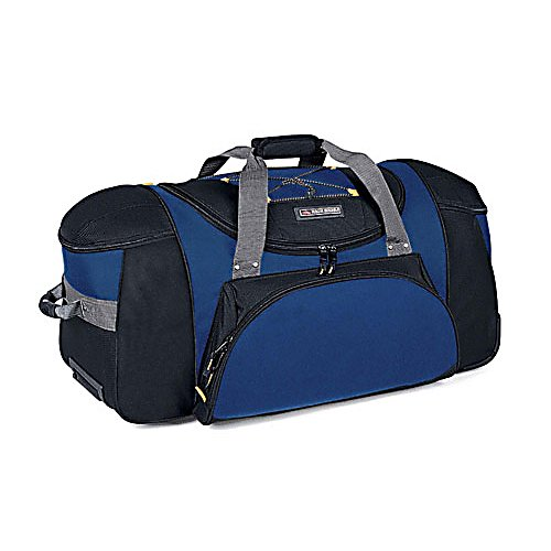 Entertainment High Sierra A.T. Gear Classic 30-Inch Wheeled Duffel Bag - Whether you're trekking through the Rockies or navigating your way through the airport terminal, count on High Sierra's 30-Inch Wheeled Duffel will get you there in comfort. With an easy-access U-shaped main compartment, two top-loading end compartments, and a zippered front accessory pocket, storage is never at a loss. Features: Two top-loading end compartments., Inline skate-style wheels with corner protectors., Extendible, locking telescoping handle., Elastic shock cord on top., Hidden backpack straps are stored behind the zippered padded back panel., Two bags in one. Use it as a wheeled duffel or wear it like a backpack.. Warranty: Lifetime, Bearing Grade: Performance, Material: 1200x1800 Denier Duralite, Airplane Carry-On: Yes, Weight of Bag: 7.9 lbs, Exterior Pockets: Yes, Size Dimensions: 20.5x14x8in, ID Tag: No, Interior Mesh Pocket: No, Luggage Style: Wheeled Duffel, Model Year: 2013, Product ID: 141155, Shipping Exclusion: This item is only available for shipment by UPS to the lower 48 United States. APO, FPO, PO BOX, Hawaii, and Alaska shipments may not be possible for this item. (Please call prior to purchase.), Special Order: This is a Special Order item, will be shipped from the manufacturer, and is not stocked in our warehouse. This item does not qualify for our Price Matching Policy. Order processing time may vary., Model Number: AT101-160, GTIN: 0040176170510 - $124.99