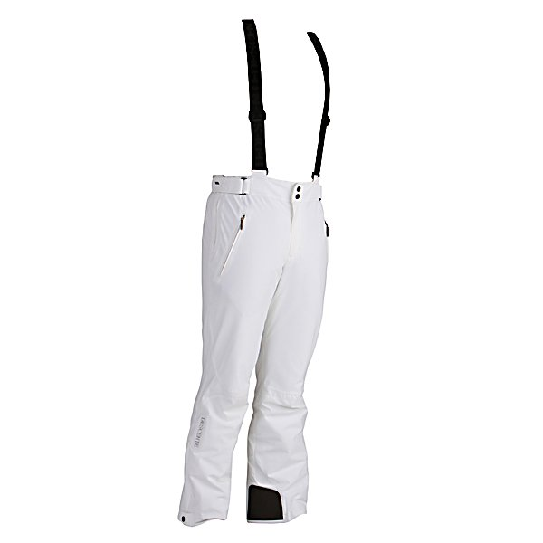 Ski Descente Swiss Mens Ski Pants - The Descente Swiss Ski Pants are comfortable and cool. They will surely keep you warm whether you're hitting the local slopes or adventuring in the Swiss Alps. Equipped with Thinsulate Insulation offer unique microfibers much smaller than other insulation so they can keep the body heat trapped inside without being bulky. Dermizax Technology makes these pants extremely waterproof so you won't have to worry about the exterior moisture seeping in as well as very breathable so it won't feel like you're stuck in a sauna. Removable Suspenders makes it so you can customize your comfort and fit and the body fit design offers a slimmer fit in the hips and thighs. The Descente Swiss Ski Pants are comfort, warmth and style all rolled into one awesome piece of ski wear. . Exterior Material: 4Way Stretch FT - 89% Nylon, 11% Polyurethane, Softshell: No, Taped Seams: Critically Taped, Waterproof Rating: 20,000mm, Breathability Rating: 10,000g, Thigh Zip Venting: No, Suspenders: Suspenders Removable, Articulated Knee: Yes, Cargo Pockets: No, Warranty: Two Year, Race: No, Waterproof: Totally Waterproof (20,000mm+), Breathability: High Breathability (9000g-15,000g), Use: Ski, Type: Insulated, Cut: Regular, Waist: Adjustable, Pockets: 1-2, Model Year: 2013, Product ID: 272429 - $287.99
