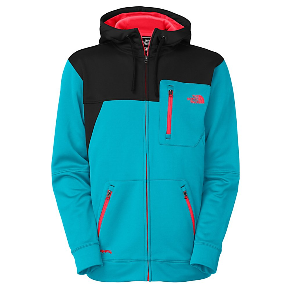 Ski The North Face Spineology Hoodie - Inspired by athletes The North Face Spineology Hoodie is made with a polyester jersey face fleece and is perfect for layering or worn alone on those early fall days. There are two zip hand pockets and a chest pocket for storing small items that you need for a fun day out on the slopes. The North Face Spineology Hoodie also has a UPF 50 rating to keep you protected from the sun's harmful UV rays. . Hood Type: Fixed, Material: Polyester Jersey-Face Fleece, Fleece Weight: Mid, Category: Mid-Weight, Hood: Yes, Warranty: Lifetime, Battery Heated: No, Type: Full Zip Top, Wind Protection: No, Type: Hoodies, Material: Synthetic, Pockets: 3-4, Wicking Properties: No, Type: Long Sleeve, Water Resistant: No, Model Year: 2013, Product ID: 282711, Shipping Restriction: This item is not available for shipment outside of the United States. - $100.00