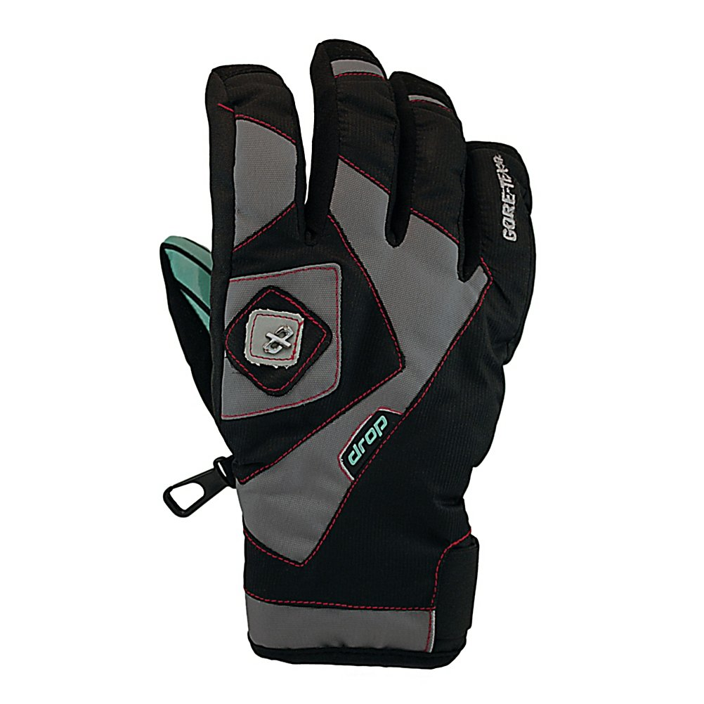 Snowboard Drop Auxiliary II GTX Snowboard Gloves - Next time you go for a shred, don't forget to bring along your Drop Auxiliary II GTX Snowboard Gloves. These are adult gloves created with the right fit for you to have a great ride. The Auxiliary II gloves are made with a DP stretch twill and Cordtech patchwork shell and have a Gore-Tex insert that guarantees to keep your hands dry. For those extra chilly days when your nose begins to run as a result of the temperature, the convenient nose wipe incorporated with the gloves very much comes in handy. There is a Simple Slide Velcro on the closure for easy entry and exit as well as comfort. These adult snowboarding gloves by Drop also have Needled Primaloft insulation. This results in extra warmth so your fingers can stay nice and toasty while you ride. Best of all, the Auxiliary II Gloves offer a moisture wicking microfleece lining. Stay nice and dry, and sweat free with this glove. Features: Palm Pull micro-adjustment tab, Polyurethane Flock goggle / nose wipe. Removable Liner: No, Material: DP stretch twill and Cordtech patchwork shell, Warranty: One Year, Battery Heated: No, Race: No, Type: Glove, Use: Ski/Snowboard, Wristguards: No, Outer Material: Stretch Twill, Waterproof: No, Breathable: No, Pipe Glove: No, Cuff Style: Under the cuff, Down Filled: No, Touch Screen Capable: No, Model Year: 2012, Product ID: 244464 - $39.93