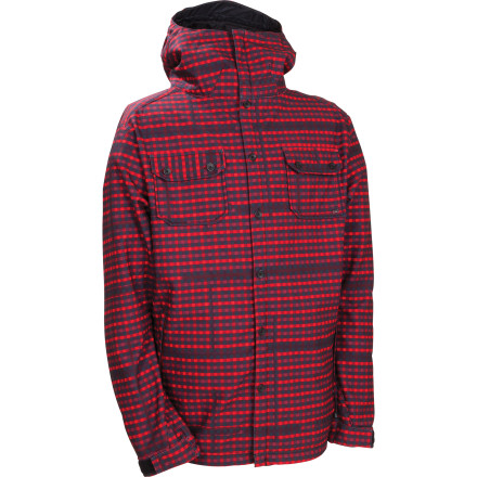 The 686 Plexus Clash Softshell Jacket brings together 686's latest and greatest ground-breaking technology and the look of your favorite flannel shirt. This 210g fleece bonded softshell breathes exceptionally well, making it ideal for springtime hot laps in the park or post-holing up a ridge to get the fluffy stuff. - $68.00