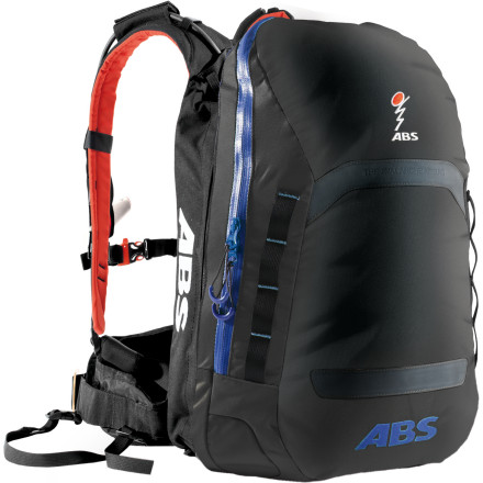 Camp and Hike Prepare yourself for the ultimate backcountry emergency without feeling like you're lugging around the kitchen sink when you strap on the ABS Avalanche Rescue Devices' Powder Line 5 Backpack. This compact pack includes the full ABS system that quickly inflates two large airbags to help you to stay on top of a slide. When the snow comes to a stop, you're either able to extricate yourself or you're very easy for rescuers to spot and retrieve. - $787.96
