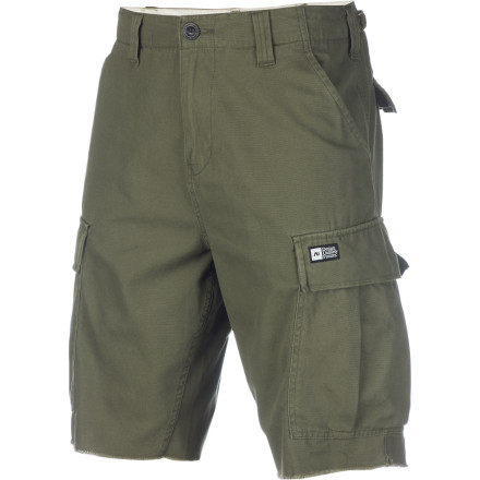 Stick both your legs into the Analog Men's AG Cargo Short, pull this slouch-fit short up to your waist, and high-five yourself in the mirror. Congratulations, you dressed yourself today! Mark that one on the calendar and move on with your afternoon. - $29.00