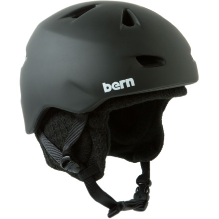Snowboard The Bern Brentwood Audio Zip Mold Helmet with Knit Liner wants nothing more than to guard your skull. It doesn't care if you're headed into the snow for terrain park madness or swinging by the skatepark to show off your new skills. Warm weather or cold, snow or concrete, this helmet is ready to go wherever you are going. - $74.22
