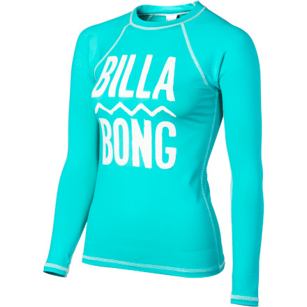 Surf Keep it under cover in the stretchy, sturdy Billabong Women's Jane Rashguard, with raglan sleeves and surfer style. Because rashes and sunburns are never cool. - $39.45