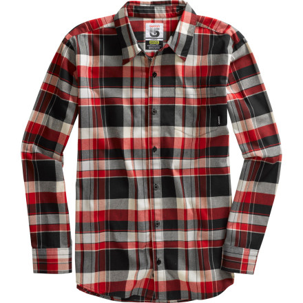 Snowboard Since you spend most of your time shredding log lines in the woods anyway, the Burton Tech Flannel Shirt makes sense. Plus, its lumberjack-style flannel, long fit, and DryRide Mist-Defy water-repellent coating keeps you dry during the spring meltdown. - $41.94