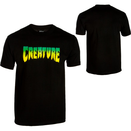 Skateboard 'AHHH! Look out, it's a giant, tyrannosaurus-looking monster! Actually, nope, it's just an average-size skater in the Creature Men's Logo T-Shirt. Why do skaters get such a bad rap - $15.71