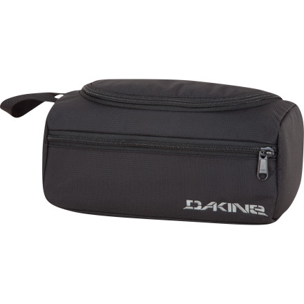 Entertainment With the help of the DAKINE Groomer Kit, your bathroom goods stay organized so you can keep looking classy, even on the road. An array of pockets hold your toothpicks, deodorant, and mango-flavored floss where they're easily accessible, and the slick nylon lining is easy to clean so things don't get gross. - $19.95