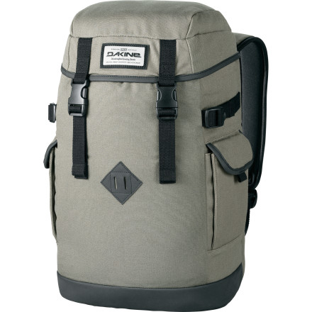 Camp and Hike If you love your camping pack, but don't enjoy taking it to school because of the straps hanging off of it and its bulky size, pick up the Dakine Sentry Laptop Backpack. With a canvas fabric, a durable faux leather bottom panel, and a top entry with compression straps, it has an outdoorsy look normally reserved for old-school technical packs. However, on the padded laptop sleeve and a fleece-lined phone pocket on the inside make it more suited to city life. - $69.95