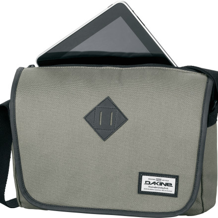 Surf While riding your fixie home from work, take a quick break and pull your tablet computer out of your Dakine Depot Messenger Bag to snap some photos of the sweet sunset going down. It has a padded, fleece-lined sleeve to safely store your tablet when you're on the go. - $34.95