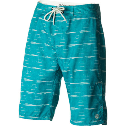 Surf Much like the way you spend your days and your general outlook on life, you like to keep your clothing mellow. The Element Stony Creek Men's Board Short features a quick-drying recycled polyester fabric and a faded vintage print for a board short that does what you need it to without looking flashy or feeling uncomfortable. - $44.76
