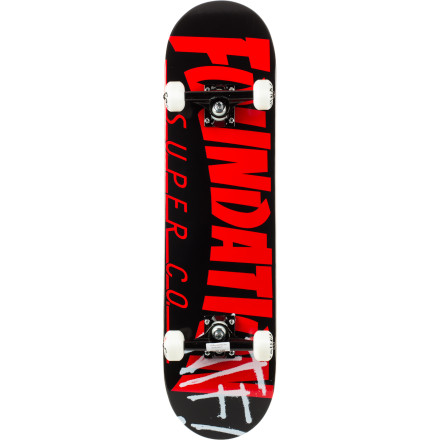 Skateboard From the sidewalks to the parks, the Foundation Thrasher Complete Skateboard will perform to take your skateboarding to the next level thanks to its versatile shape, quality wood, and choice components. - $79.96
