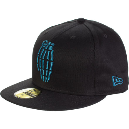 The Grenade Skullbomb New Era 5950 Hat will not turn your skull into an actual bomb. Good thing, because that would have been a pretty tough sell. - $19.47