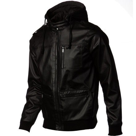 Get that sweet biker leather look without cashing out your bank account with the KR3W Wallace 2 Men's Jacket. It's fleece-lined to keep you warm and the faux leather shell blocks wind and light moisture while you're riding your hog (or bicycle). - $69.97