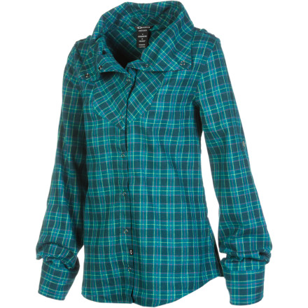 The Oakley Cairn Flannel is a Western style flannel with a stylish twist. the asymmetrical collar not only sets the style apart, but it eliminates annoying chin chafe caused by centered collars. - $40.80